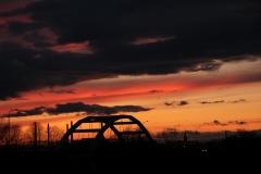 Most nad kanałem Ulga. wjazd do Raciborza.