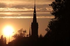 Parafia Św.Mikołaja w Raciborzu. Widok od strony Parku Zamkowego