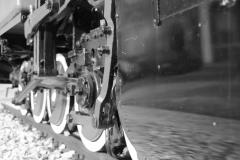 Lokomotywa Halinka przy dworcu kolejowym w Raciborzu